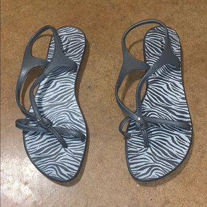 Gray plastic sandals- see offer in description